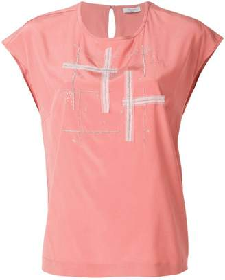 Peserico embellished crewneck T-shirt
