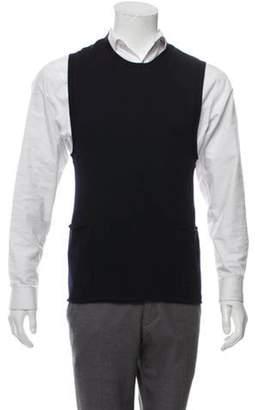 John Varvatos Wool & Cashmere-Blend Pullover Vest navy Wool & Cashmere-Blend Pullover Vest
