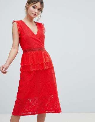 Liquorish Lace Midi Dress