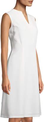 Lafayette 148 New York Ava V-Neck Wool A-line Dress