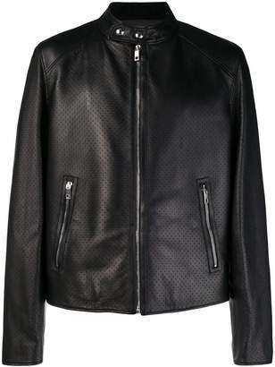 Bally micro perforated jacket