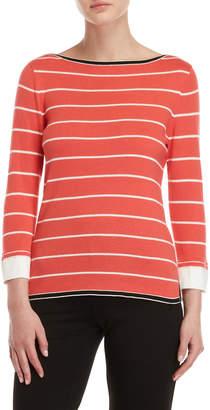 Rafaella Petite Striped 2fer Sweater