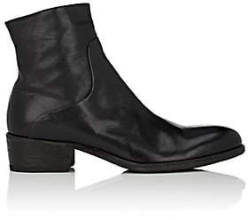 Elia Maurizi Men's Washed Leather Boots-Black