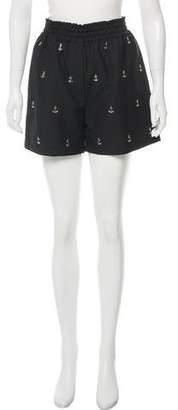 Acne Studios Embellished High-Rise Shorts