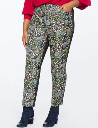 ELOQUII Kady Fit Floral Brocade Pant
