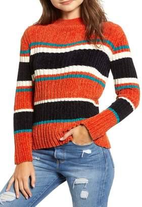 Moon River Stripe Chenille Sweater