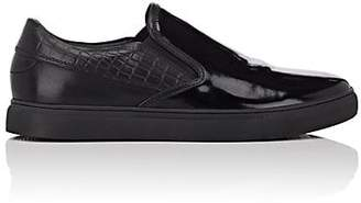 Badgley Mischka Badgley & Mischka BADGLEY & MISCHKA MEN'S DEAN PANTENT LEATHER SLIP-ON SNEAKERS - BLACK SIZE 10.5 M