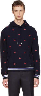 DSQUARED2 Navy Knit Hoodie