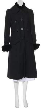 Chanel Fur-Trimmed Cashmere Coat