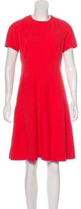 Lela Rose Jacquard Flounce Dress