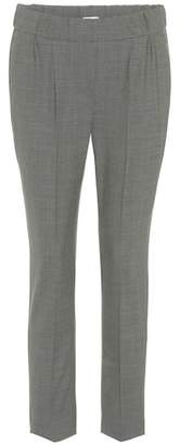 Brunello Cucinelli Cropped wool-blend trousers