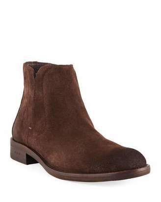 John Varvatos Men's Waverly Suede Chelsea Boots