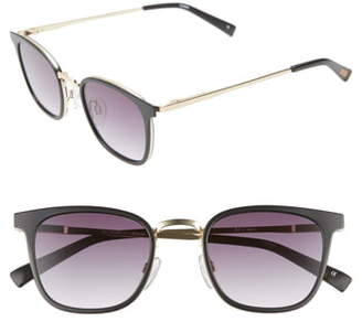Le Specs 49mm Horn Rim Sunglasses