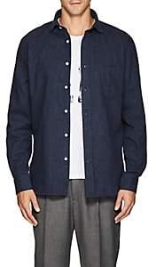 Hartford Men's Cotton Flannel Shirt - Navy