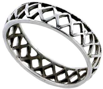 Sabrina Silver Sterling Silver Crisscross Ring 3/16 inch wide
