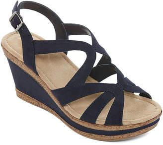 7acc91cb9ea2 ST. JOHN S BAY Womens Barnes Wedge Sandals