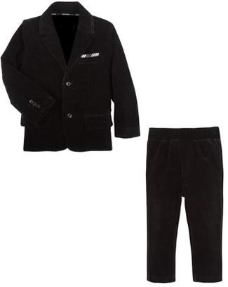 G-Cutee Boys' Velvet Dress Suit Set With Pants And Blazer