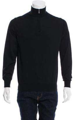 Canali Woven Zip-Up Sweater w/ Tags