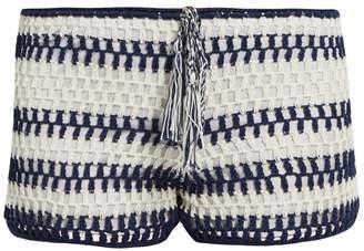 Anna Kosturova Baja crochet shorts