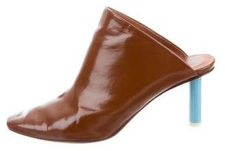 Vetements Leather Square-Toe Mules