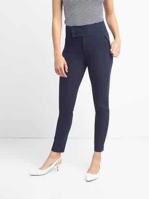 Gap Zip Leggings with Wide Waistband in Bi-Stretch