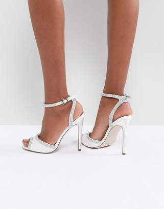 Asos DESIGN HITCHED Bridal Embellished Heeled Sandals