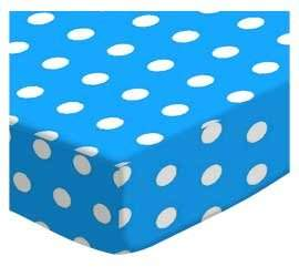 Graco SheetWorld Fitted Pack N Play Sheet - Polka Dots Turquoise - Made In USA - 27 inches x 39 inches (68.6 cm x 99.1 cm)