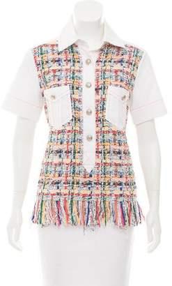 Chanel Tweed Short Sleeve Top