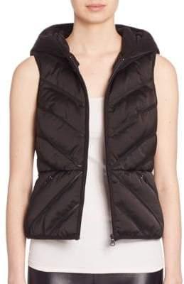Blanc Noir Mesh Inset Puffer Vest