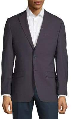 Calvin Klein Wool Mini Grid Suit Jacket