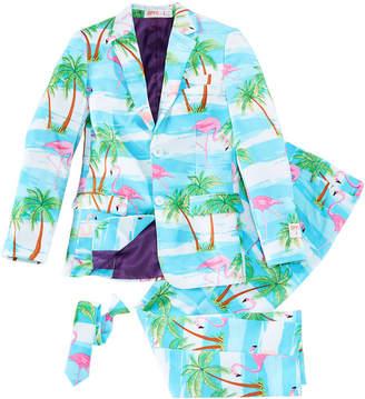 OppoSuits Big Boys 3-Pc. Flaminguy Suit & Tie Set