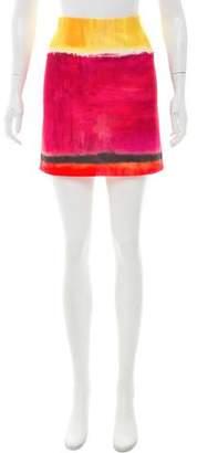 Alberta Ferretti Printed Mini Skirt