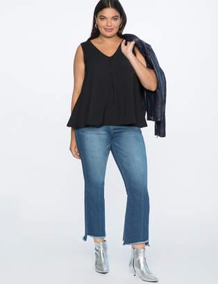 Asymmetric Hem Jeans