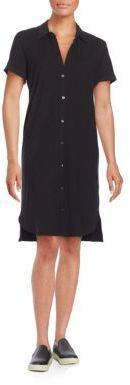James Perse Cotton Jersey Shirtdress