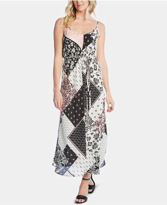 Karen Kane Sleeveless Mixed-Print Maxi Dress