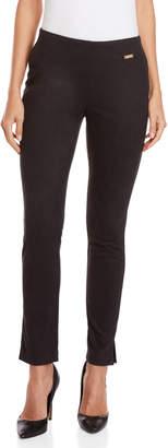 Rafaella Black Faux Suede Skinny Pants