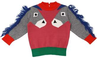Stella McCartney Intarsia Cotton Knit Sweater