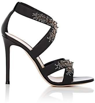 Gianvito Rossi Women's Leather & Elastic Crisscross-Strap Sandals - Black