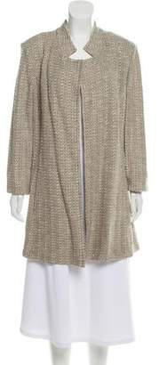 St. John Crocheted Notch-Lapel Coat w/ Tags