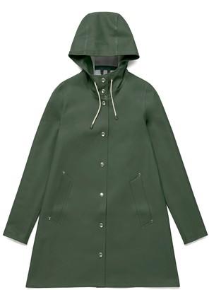 Stutterheim Green Womens Mosebacke Raincoat - XS - Green