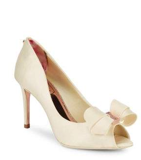 Ted Baker Vylett Bow Peep Toe Pumps