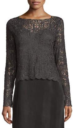 Nic+Zoe Brushed Lace Long-Sleeve Top