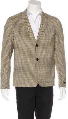 Prada Wool Gingham Print Blazer