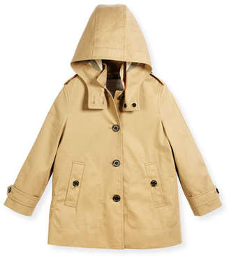 Burberry Geri Hooded Trenchcoat, Size 4