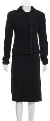 Bottega Veneta Textured Knee-Length Skirt Suit