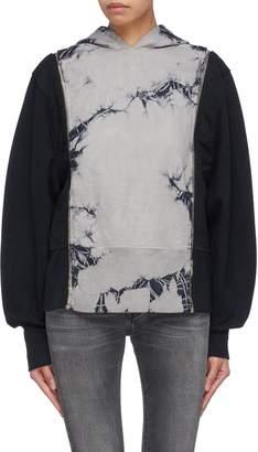 TRE by Natalie Ratabesi Detachable sleeve crack effect hoodie