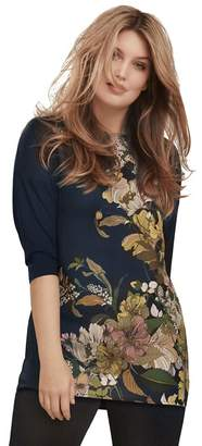 Live Unlimited Italian Floral Satin Front T-Shirt