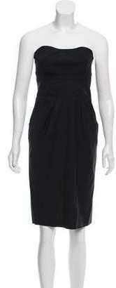 Diane von Furstenberg Strapless Pleated Dress