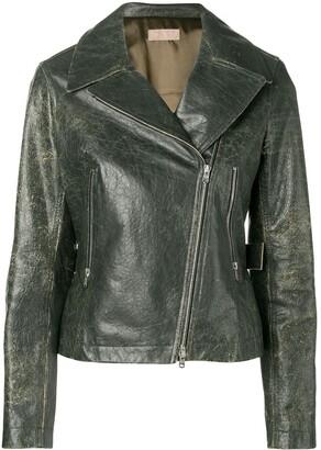 Alaia Pre-Owned 2000 distressed biker jacket