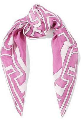 Emilio Pucci Printed Cotton And Silk-Blend Gauze Scarf